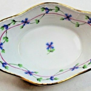 Trinket Tray Dish Porcelain Oval Herend Hungarian